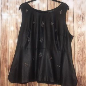 Beautiful Lane Bryant Black Peplum Top